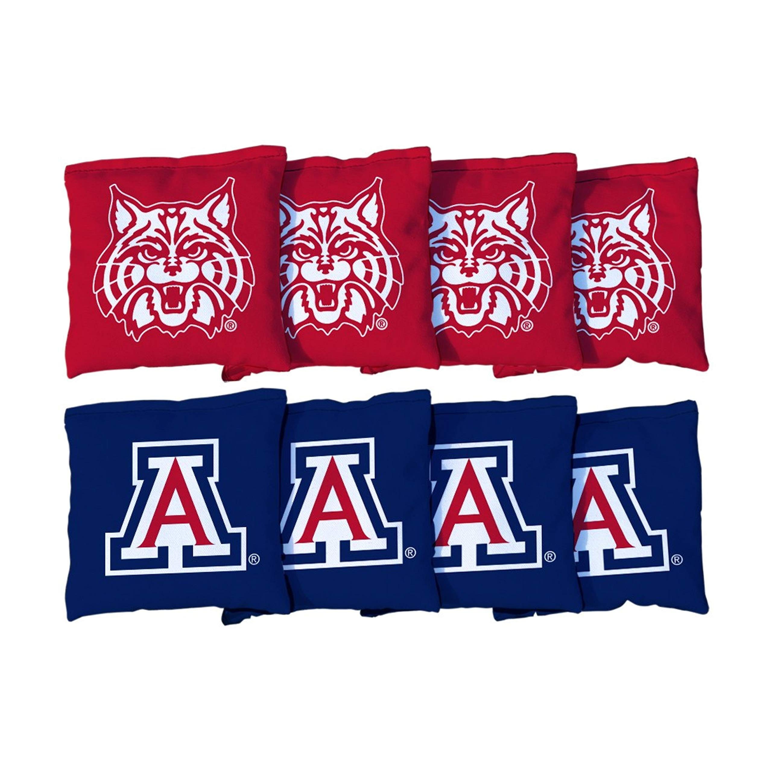 Victory Tailgate NCAA Regulation Cornhole Game Bag Set (8 Bags Included, Corn-Filled) - Arizona Wildcats