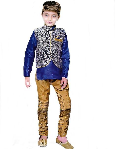 the sale of shoes buying cheap huge sale Buy Oner Boys Party wear Dresses Boys Luxury Kurta Set. (Blue, 3-4 ...