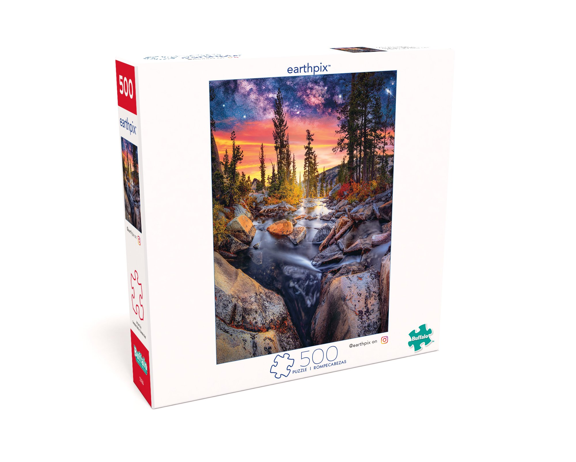 Buffalo Games - Earthpix Collection - Forest Magic Hour - 500 Piece Jigsaw Puzzle by Buffalo Games (Image #3)
