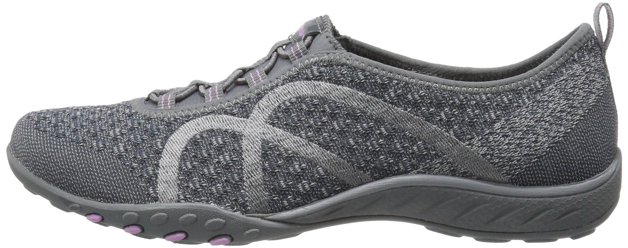 Skechers Sport Women's Breathe Easy Fortune Fashion Sneaker,Charcoal Knit,5 M US by Skechers (Image #5)