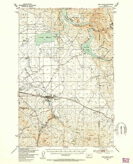 Amazon.com : YellowMaps East Helena MT topo map, 1:62500 ...