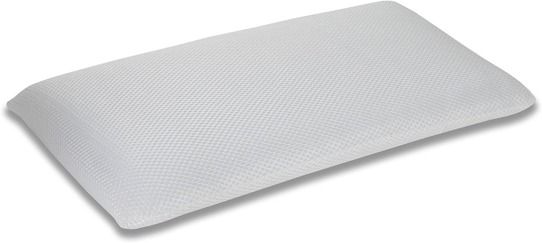 SEASONS Almohada de Cuna Transpirable Antiahogo, Fibra, 3D, 50x30x5 cm