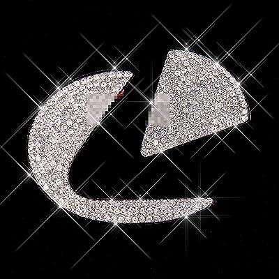 Charrost Bling Bling Car Steering Wheel Logo Badge Emblem Cover Diamond Decoration, Unique Gift for Women for LEXU: Automotive
