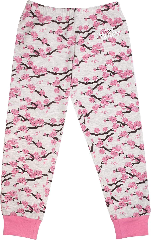 Mulan Disney Loyal Brave Fille Vraie Longue Pink Pyjama Set
