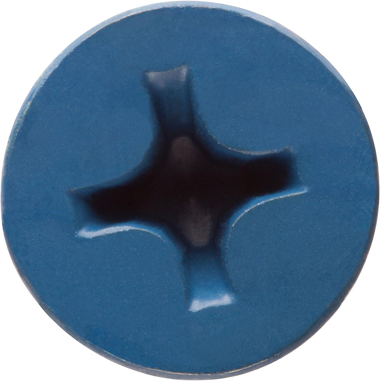 CONFAST 1//4 x 1-3//4 Flat Phillips Concrete Screw Anchor with Drill Bit 100 per Box