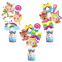 BeYumi 8Pack Marshmellow Honeycomb Centerpiece Kit DJ Music Hanging Paper Fans Marshmellow Themed Birthday Party Favor Decorations Black White Baby Shower Table Topper Party Supplies for Kids Adults