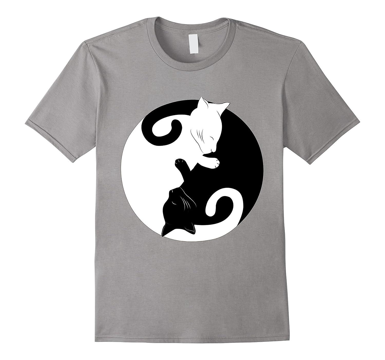 Cat Ying-Yang Balance Peace Cute Funny Gift T-Shirt-TH