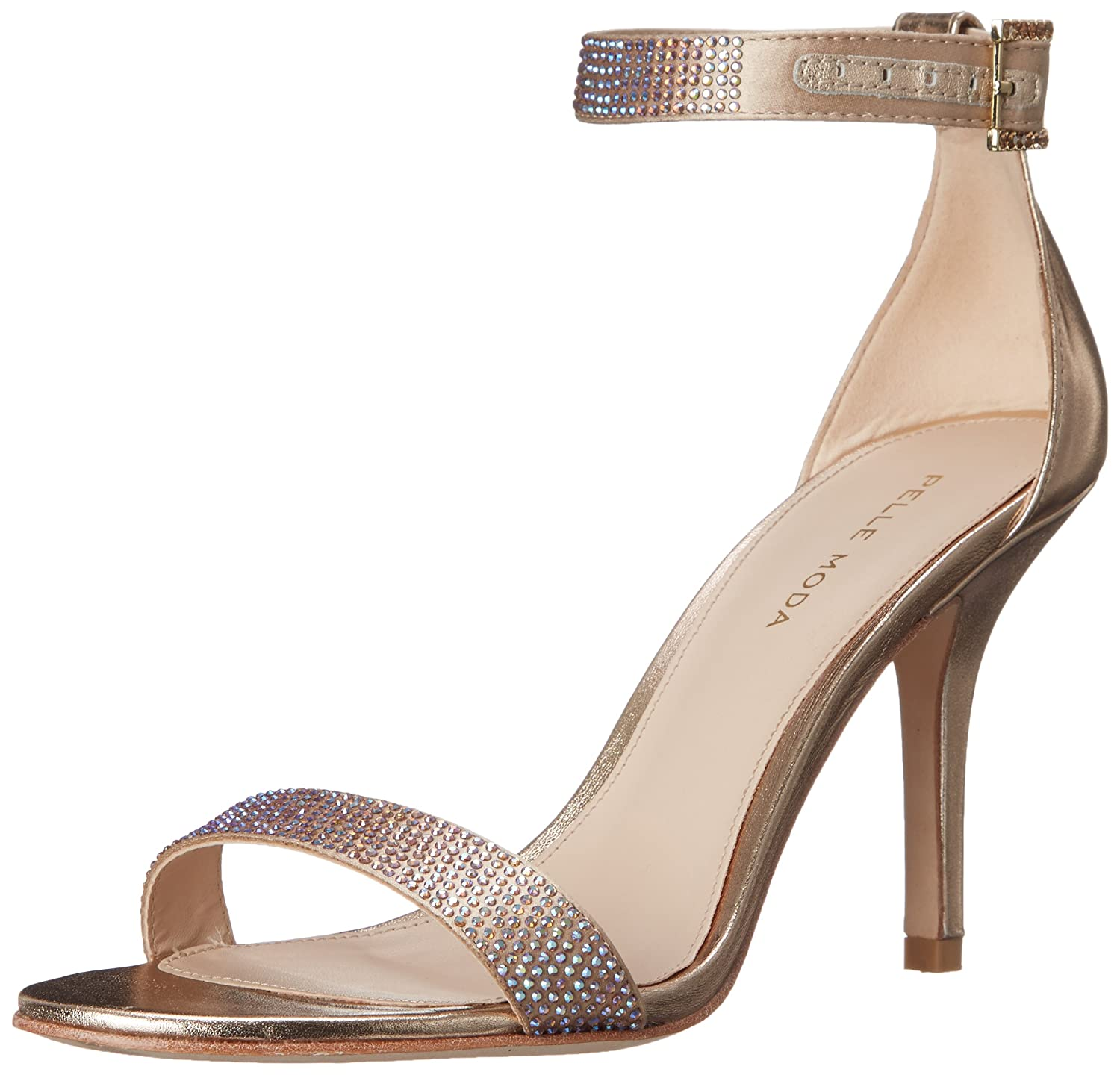 Pelle Moda Women's Kacey Dress Sandal B010BUG15G 9 B(M) US|Platinum Gold