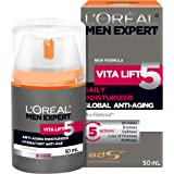 L'Oreal Paris Vita Lift 5, Anti-Aging Moisturizer for Men, Hydrating Gel, 50 ML