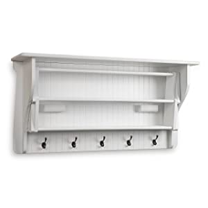 Danya B Accordion Clothes Drying Rack, Retractable, Wall Mounted, White - Perfect for the Laundry Room