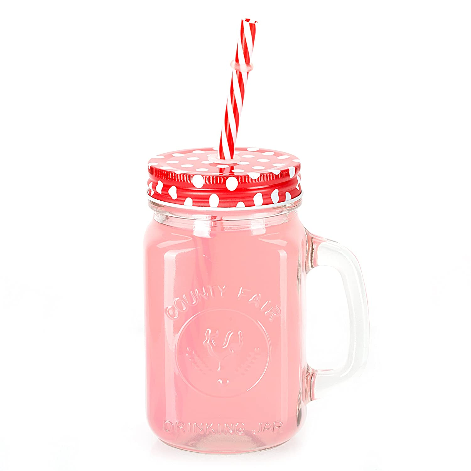 Amazon.com: Mason Jar Mugs with Handle, multi COLORED Lids and ...