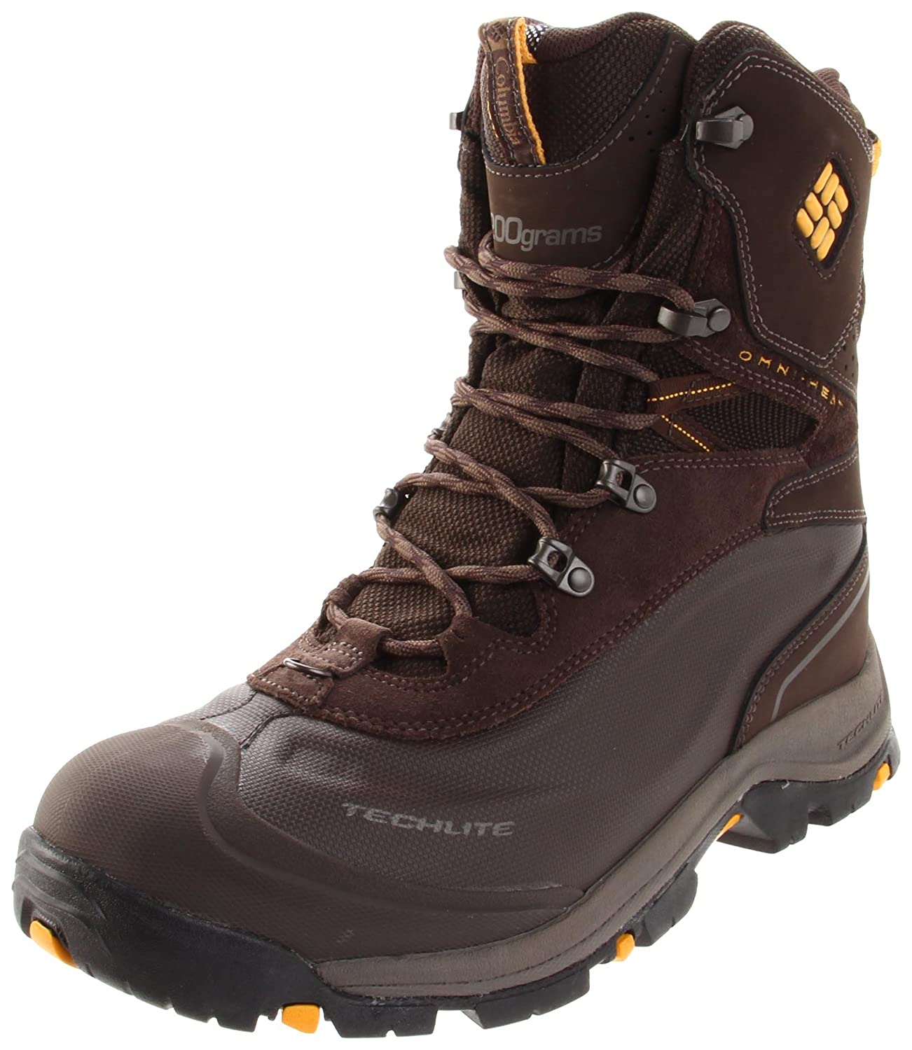 Columbia Bugaboot Plus BM1490 Herren Snowboots  46 EU|Braun (Turkish Coffee, Golden Glow 219)