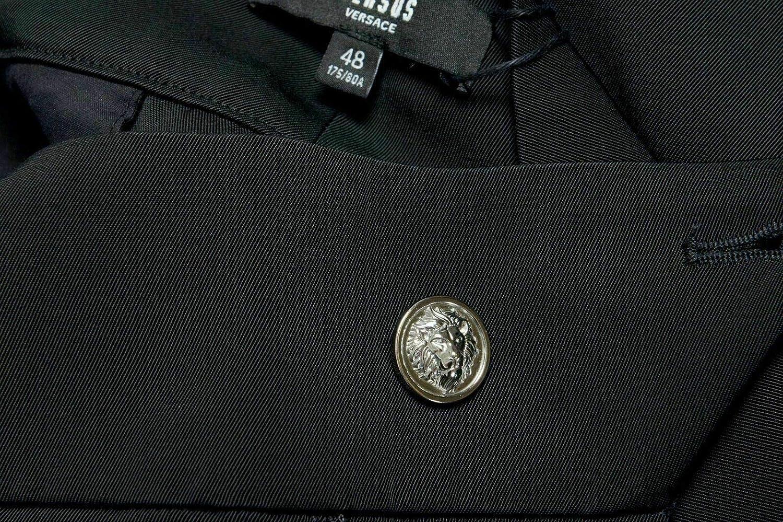 Versace Versus Mens Black Pleated Casual Pants US 32 IT 48