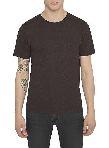 Camisetas Basicas para Hombre, Camiseta Lisa Gris, Marrón Casual Luxe Deportiva de marca –