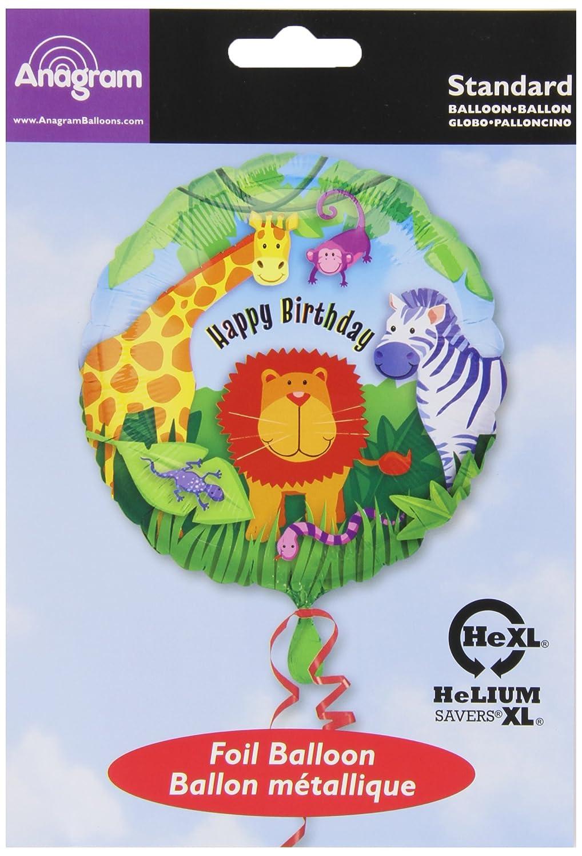 Anagram International Wild Kingdom Birthday Balloon Multicolor 18 A11999801 18