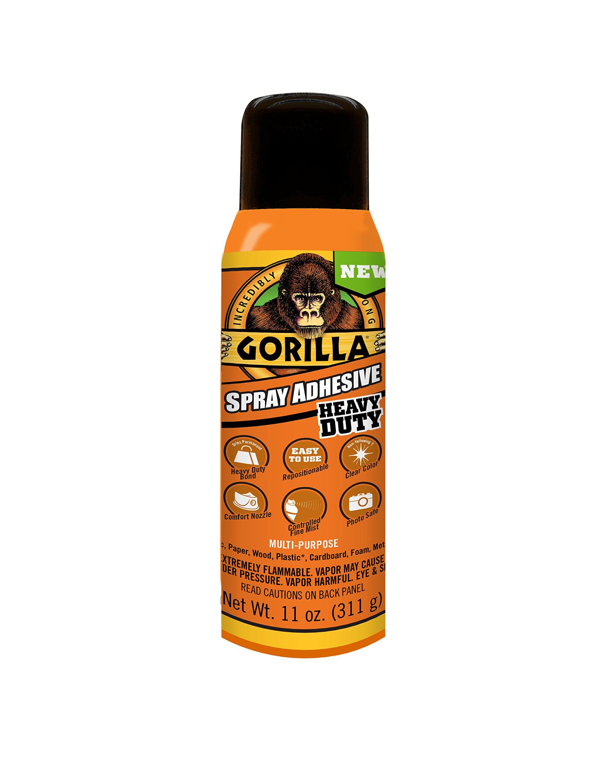 Gorilla 6314407 Spray Adhesive 11oz, Clear