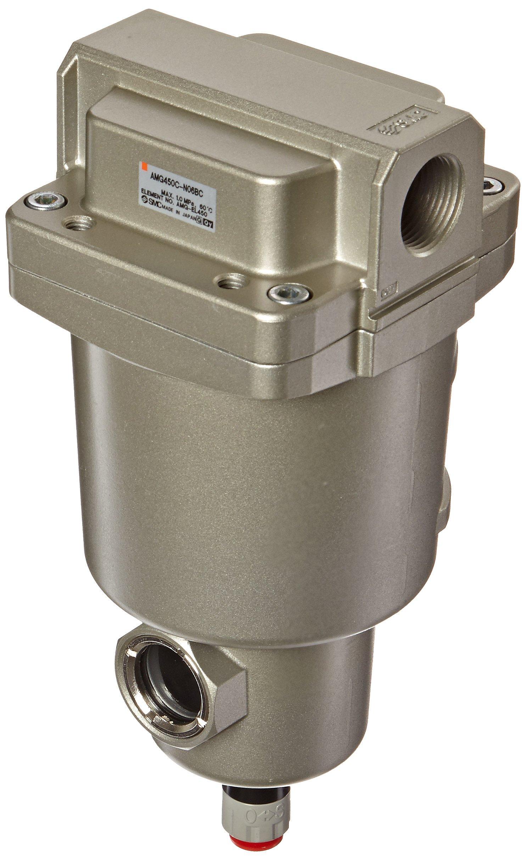 SMC AMG450C-N06BC Water Separator, N.C. Auto Drain, 2,200 L/min, 3/4'' NPT, Mounting Bracket by SMC