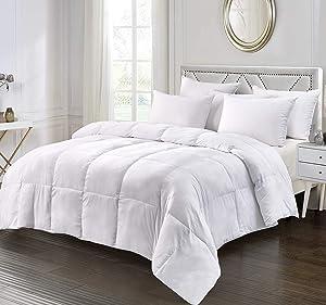 Elle Décor ELLE Ultra Soft Nano Touch All Seasons Duraloft Down Alternative Comforters, King, White