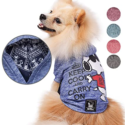 Snoopy Dog Clothes Hoodie | Lightweight Sweatshirt for Dogs & Cats in 5  Different Sizes and Styles |Supreme Hoodies for Dogs, Puppy to XL Pets Dog
