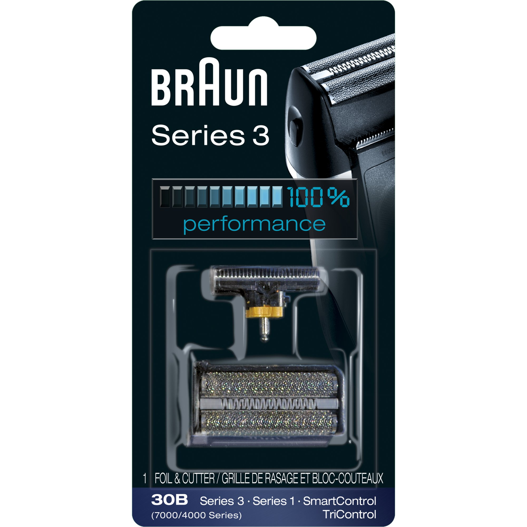 Braun Series 3 30B Foil & Cutter Replacement Head, Compatible with Previous Generation SmartControl,