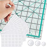 288 Pieces Non-Slip Silicone Grips for Quilting Templates Silicone Stickers 96 Large, 96 Middle, 96 Small Template Grips…