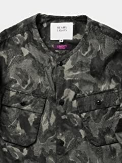 Liberty Print No Collar Shirt Blouson 51-18-0214-012: Mono