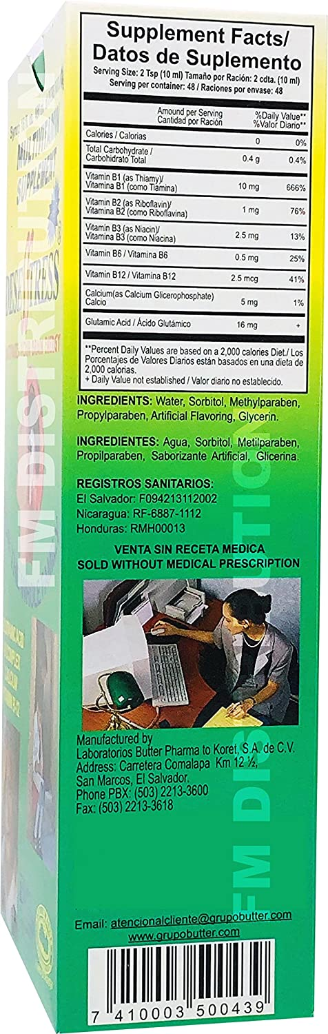 Amazon.com: Desesstress Plus Liquid B-Complex - Complejo B para Reactivar Tu Cerebro - 16 Fl Oz: Health & Personal Care