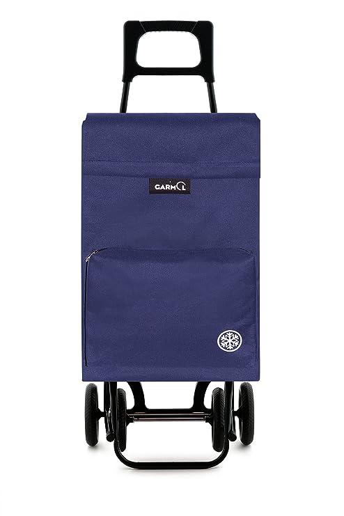 Garmol 404TCT C3 - Carro de Compra 4 Ruedas, Tela, 40x27x105 cm, Azul