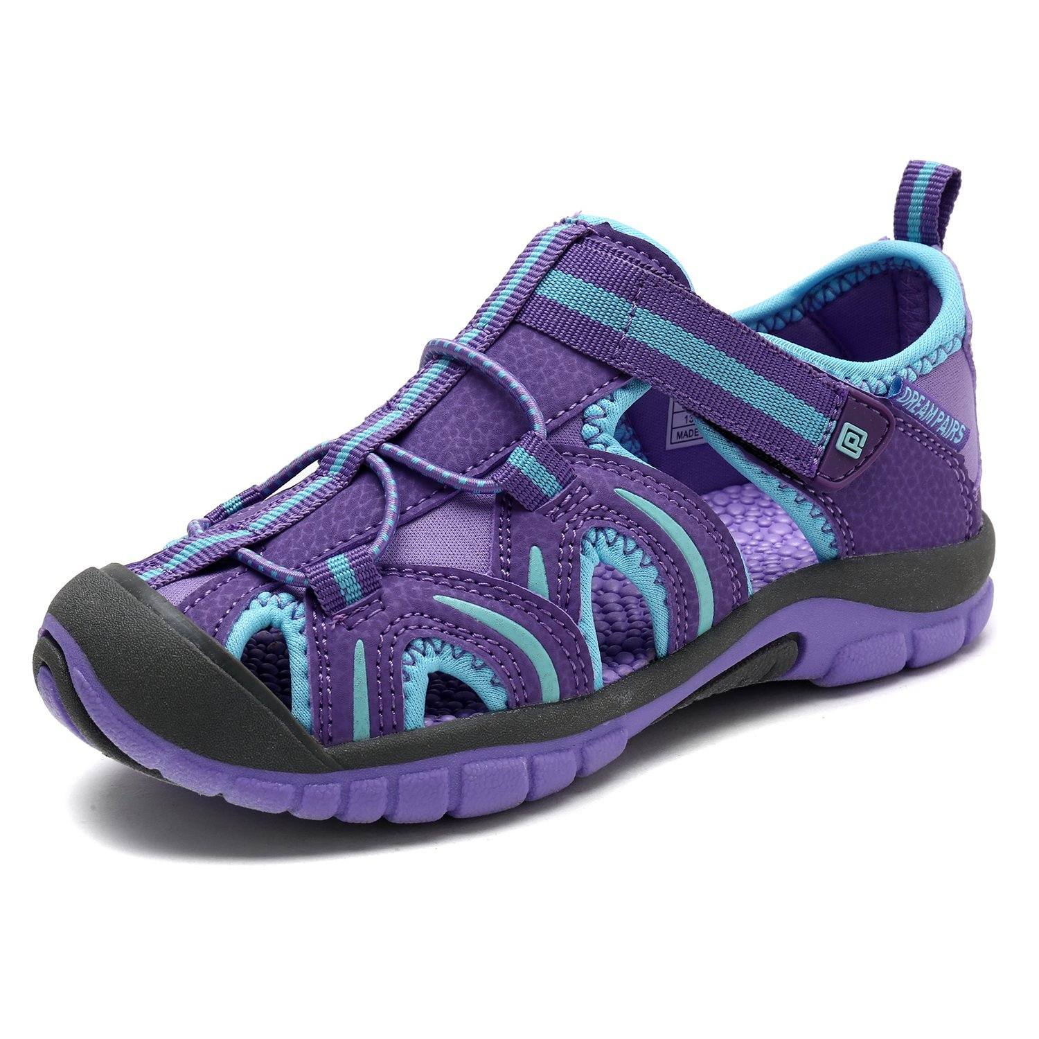 DREAM PAIRS Little Kid 171112-K Lavender W.Blue Outdoor Summer Sandals Size 13 M US Little Kid