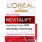 L'Oréal Paris Revitalift Anti-Ageing Eye Cream, Reduces Bags and Dark Circles, with Pro Retinol, 15ml