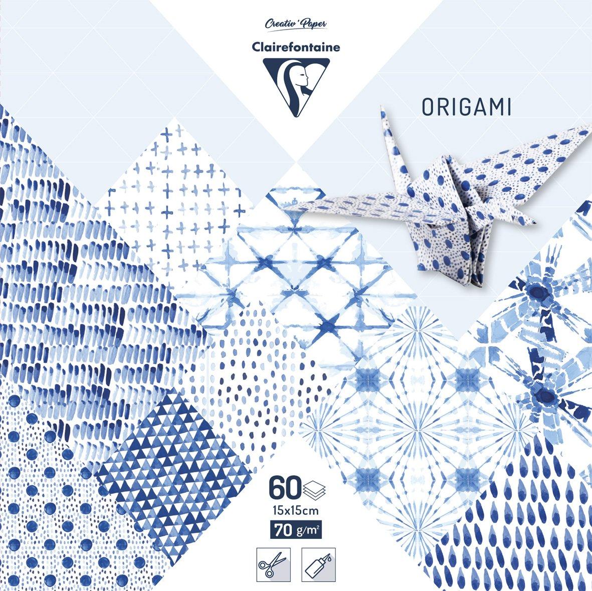 Clairefontaine 95349C tasca di 60fogli origami formato 15x 15cm Shibori 95349C
