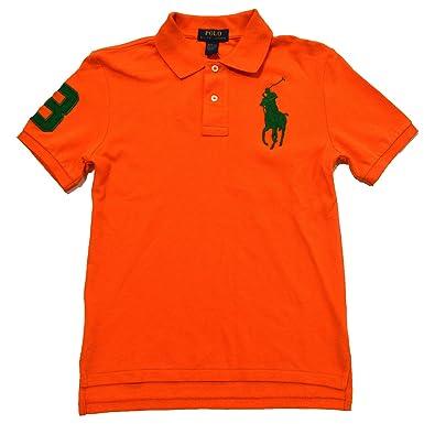 Polo Ralph Lauren Boys Big Pony Polo Shirt (Bright Papaya, X-Large (
