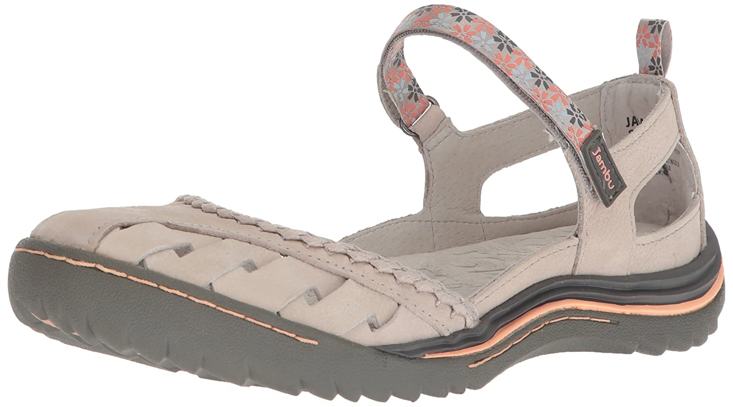 Jambu Women's Apple Blossom Mary Jane Flat B074KQMM4L 6 B(M) US|Light Grey
