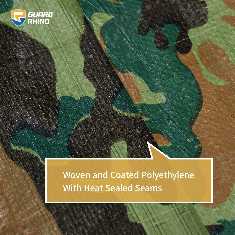 GUARD RHINO Camouflage Tarp 9x12 Feet Multi Purpose Waterproof Poly Tarp Cover 5mil