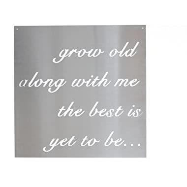 Grow Old Along With Me The Best is Yet To Be Metal Sign (23  x 23 )
