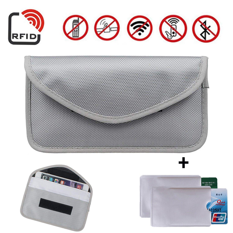 2x Car Key Keyless Fob Phone Signal Blocker Shield Pouch Faraday RFID Case Bag