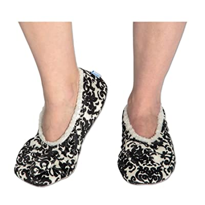 Snoozies Womens Touch Me Ballerina Slippers with Comfort Fit Split Sole | Slippers
