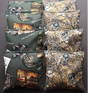 DEER ANTLER Cornhole Bean Bags ACA Regualtion Corn Toss REALTREE Camo Hunting