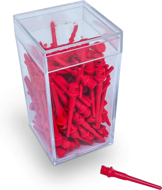 Punte Freccette plastica Filettatura Piccola 2 BA BILLARES Y DARDOS CAMARA Scatola 100 Punte per Freccette Professionali in plastica per Bersaglio elettronico Punte per Freccette in plastica