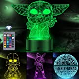 3D Illusion Star Wars Night Light for Kids, Orenic 4 Pattern and 16 Color Change Decor Lamp with Smart Touch & Remote Control