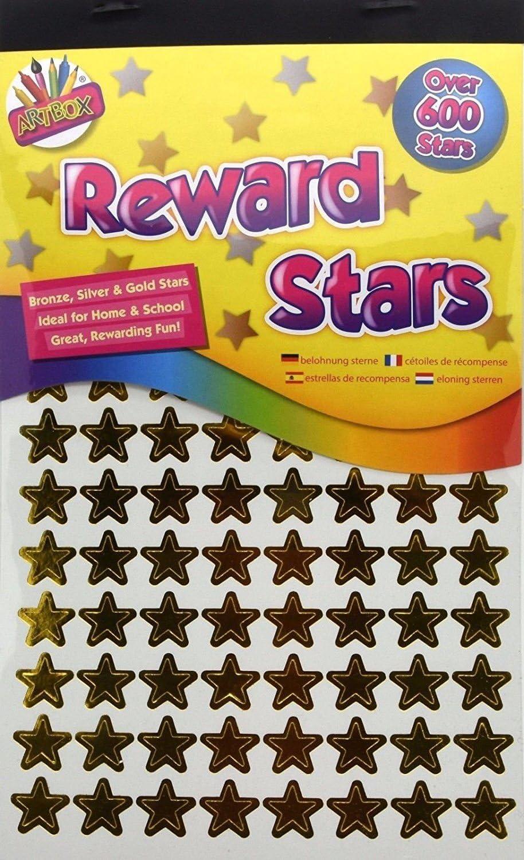 Lot de 600 autocollants de r/écompense en forme d/étoile Argent/é//dor/é//bronze