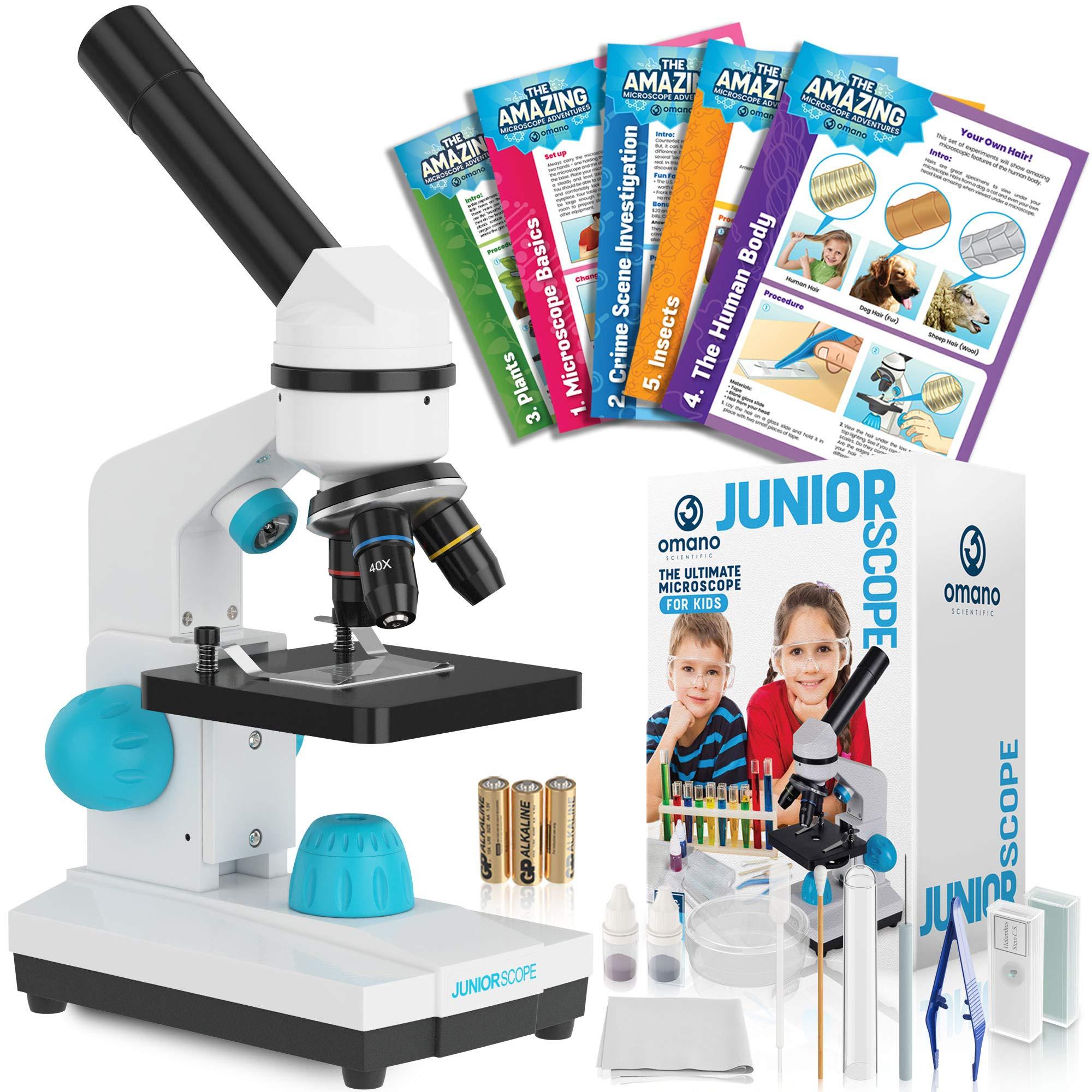 Omano JuniorScope Microscope for Kids Microscope Science Kits for Kids Science Experiment Kits by Omano