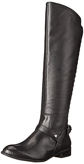 Amazon.com | Anne Klein Women's Kahlan Leather Riding Boot | Knee-High