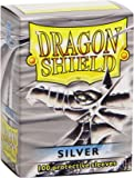 Dragon Shield Sleeves - 100 pcs. - silver - plus Deck Box