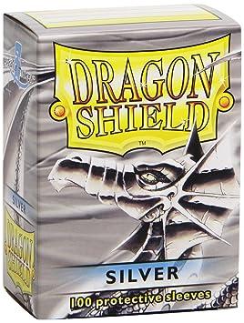 Pegasus Arcane Tinmen 10008 Dragon Shield - Fundas Protectoras para Cartas coleccionables (100 Unidades), Color Plateado