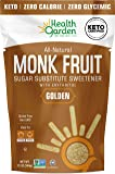 Health Garden Monk Fruit Sweetener, Golden- Non GMO - Gluten Free - 1:1 Sugar Substitute - Kosher - Keto Friendly (12 Oz…