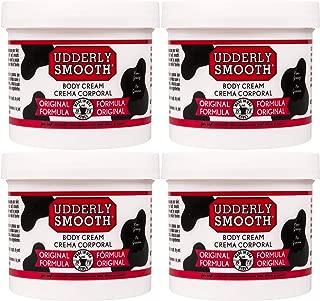 product image for Udderly Smooth Body Cream, Original Formula, 12 oz Jar (4 Count), Lightly Scented