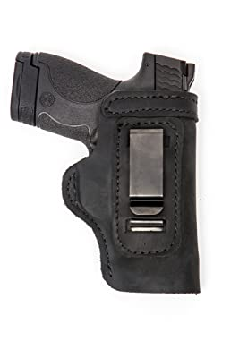 Smith & Wesson M&P Shield Pro Carry LT CCW IWB Leather Gun Holster Black