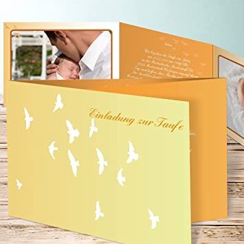 Einladungskarten Taufe Selber Machen Täubchen 25 Karten C6