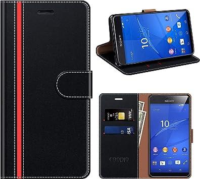 COODIO Funda Cuero Sony Xperia Z3 Compact, Funda Sony Xperia Z3 ...